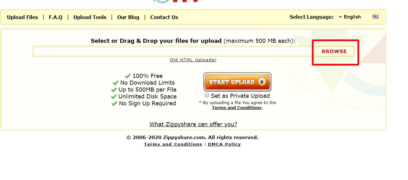 How To Upload Files To Zippyshare
